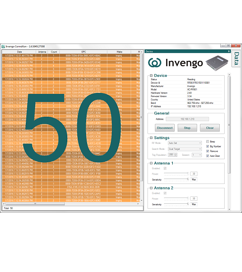 Picture of Invengo ConneXion Software