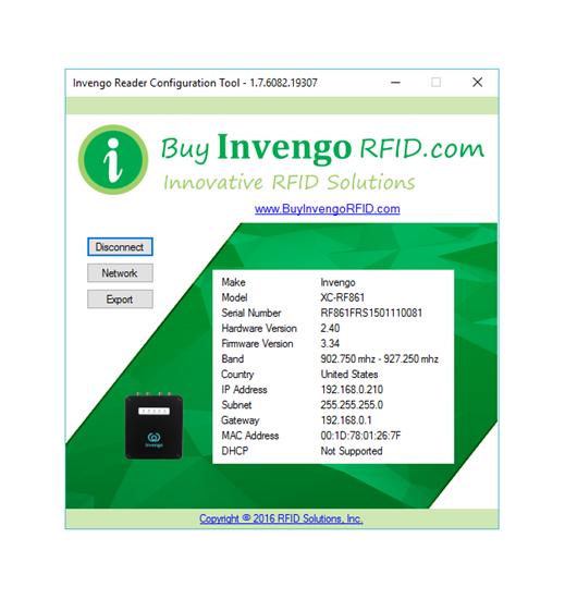 Invengo Configuration Tool